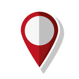 Isolated gps button design. Gps button icon. travel navigation route and location theme. Isolated design. Vector illustration Royalty Free Stock Image