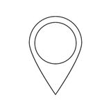 Isolated gps button design. Gps button icon. travel navigation route and location theme. Isolated design. Vector illustration Royalty Free Stock Photos