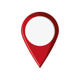 Isolated gps button design. Gps button icon. travel navigation route and location theme. Isolated design. Vector illustration Stock Photos