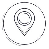 Isolated gps mark design. Gps mark icon. Travel navigation route and road theme. Isolated design. Vector illustration Stock Photo
