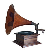 Isolated gramophone. On white background royalty free stock photos