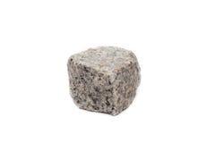 Isolated granite rock on white background Stock Image