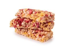 Isolated granola bar Royalty Free Stock Photos