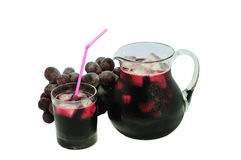Isolated grape juice Royalty Free Stock Photos