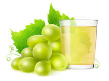 Isolated of grape juice royalty free stock photos