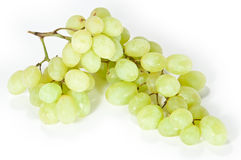 Isolated grapes. Green grapes isolated on a white background royalty free stock photography