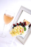 Isolated Grapes In a Glass Stock Photo