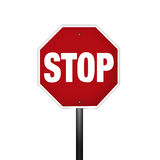 Isolated Graphic Stop Sign Stock Photo