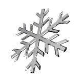 Isolated gray glass snowflake on white Royalty Free Stock Image