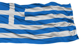 Isolated Greece Flag Royalty Free Stock Photography