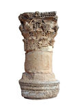 Isolated Greek column. Greek column with decorative order stock photography