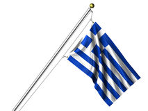 Isolated Greek Flag Stock Photo