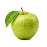 Isolated green apple Stock Photo