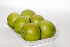Isolated green apples Stock Photo