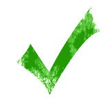 Isolated green approved tick Stock Photography