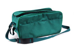 Isolated green bag Royalty Free Stock Photos