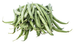 Isolated Green Beans Stock Images