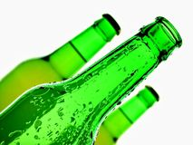 Isolated Green Beer Bottle Background Royalty Free Stock Photos
