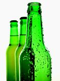 Isolated Green Beer Bottle Background Stock Photography