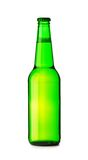 Isolated green bottle  of beer Royalty Free Stock Photography