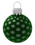 Isolated Green Christmas Ornament Stock Image