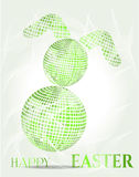 Isolated, green easter bunny, modern style Stock Photo