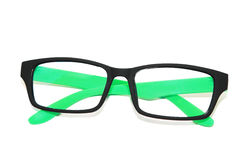 Isolated green fashion glasses stock photos