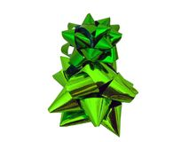Isolated Green Gift Bow - Present Wrapping Royalty Free Stock Photo