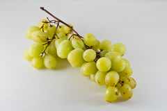 Isolated green grape on white background Stock Photos