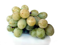 Isolated Green Grapes Stock Photo