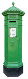 Isolated Green Irish Postbox. Encourage mail this Saint Patrick's Day with a 19th century Irish Postbox. Now Isolated for your convenience Royalty Free Stock Image