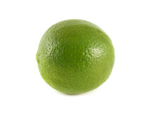 Isolated green lime on a white background. Fresh diet fruit. Healthy fruit with vitamins Stock Photography
