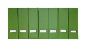Isolated green magazine files Royalty Free Stock Photo