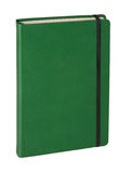 Isolated green notebook on white Stock Image
