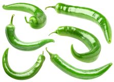 Isolated green peppers Stock Photos