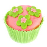 Isolated green and pink cupcake Royalty Free Stock Photo