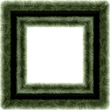Isolated green textured square frame Stock Photo