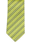 Isolated green tie. Green striped tie isolated on white background Royalty Free Stock Photo