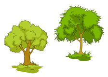 Isolated green trees Stock Photography