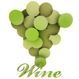 Isolated green wine grapes vignette Stock Image