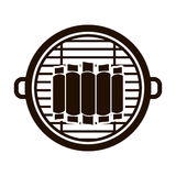 Isolated grill and bbq ribs design Stock Photography