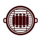 Isolated grill and bbq ribs design. Grill and ribs icon. Bbq menu steak house food and meal theme. Isolated design. Vector illustration Stock Images