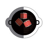 Isolated grill and bbq ribs design Royalty Free Stock Images