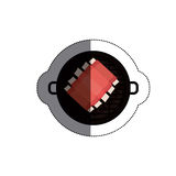 Isolated grill and bbq ribs design. Grill and ribs icon. Bbq menu steak house food and meal theme. Isolated design. Vector illustration Royalty Free Stock Photography