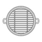 Isolated grill design. Grill icon. Bbq menu steak house food and meal theme. Isolated design. Vector illustration Royalty Free Stock Images