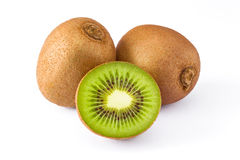 Isolated group of kiwi fruit Royalty Free Stock Photography