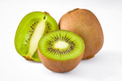 Isolated group of kiwi fruit Stock Photography