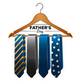 Isolated group of neckties Royalty Free Stock Photography