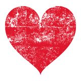 Isolated grunge red heart. On a white background - Eps10 vector graphics and illustration Stock Image