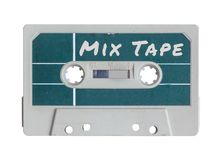 Isolated Grungy Mix Tape Royalty Free Stock Image